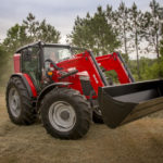 massey ferguson 6700 series tractor with bucket
