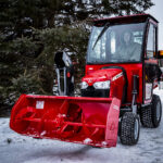 massey ferguson gc1700 series compact tractor with front mount snowblower option and cab